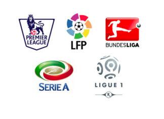 BPL, La Liga, Bundesliga, Serie A, Ligue 1
