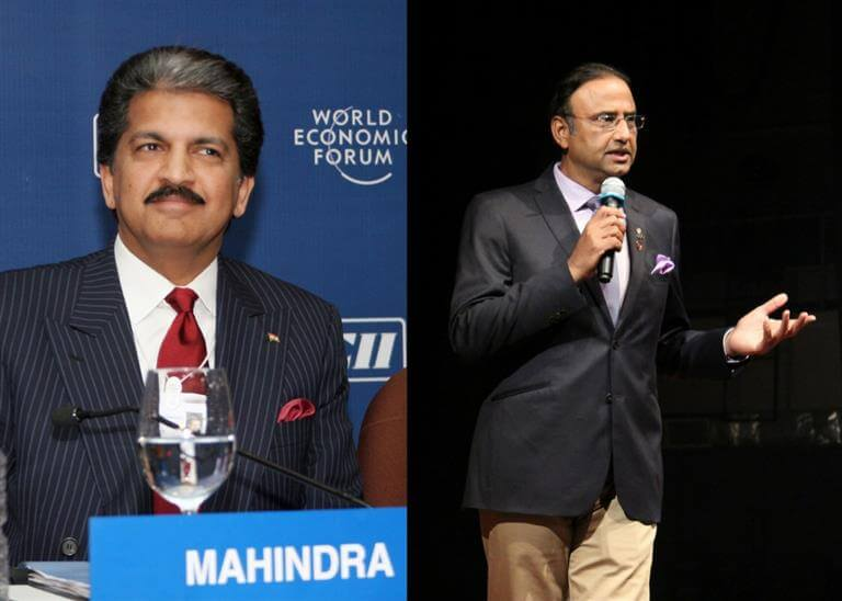 Anand Mahindra and Charu Sharma