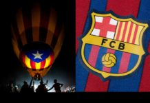 Catalonia Independence flag and FC Barcelona