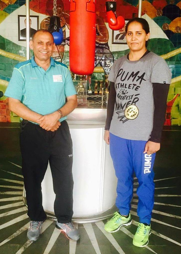 Boxing Coach Jagdish Sing and Kavita Chahal
