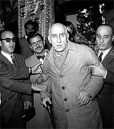 Former Prime Minister Mohammad Mossadegh, arriving at his trial at the beginning of this one, November 8, 1953