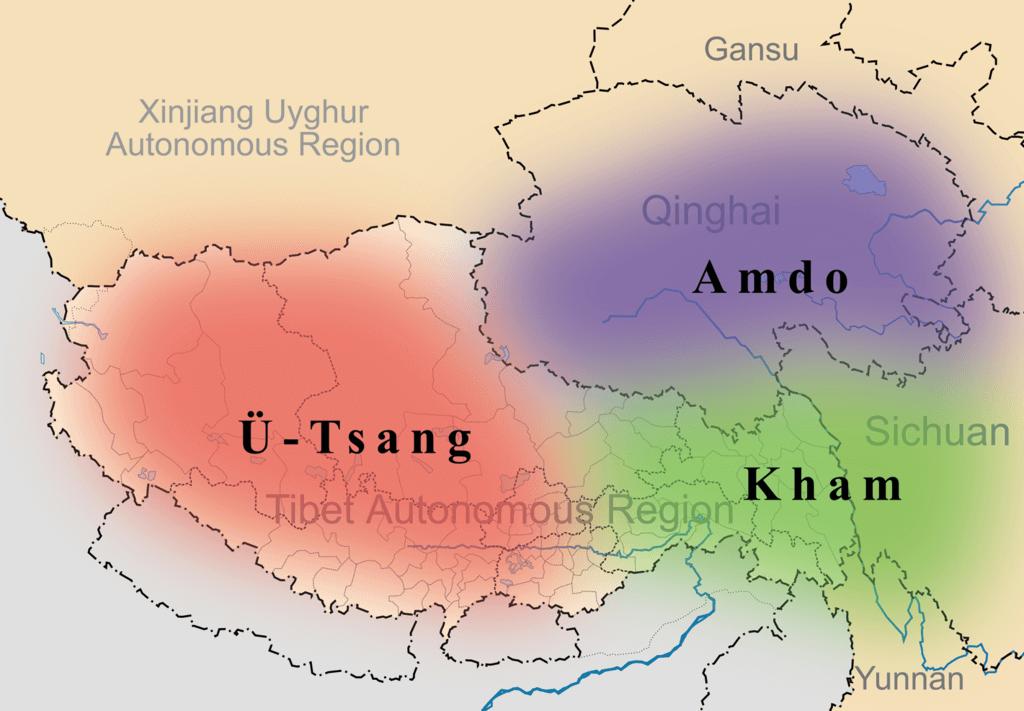 U-Tsang, Amdo, and Kham
