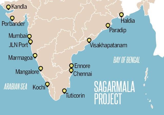 Sagarmala Project Map The Bastion