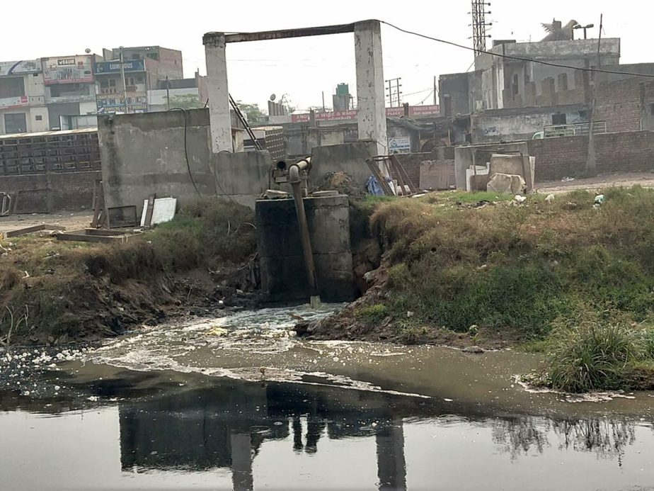 sewage outlet opening